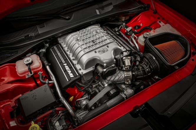 Under the hood of the 2018 Dodge Challenger SRT Demon is a 6.2-liter supercharged HEMI® Demon V-8 engine.